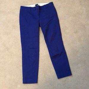 J Crew City Fit Royal Blue size 4 crop pant